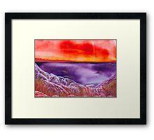 Martian Sunset Framed Print
