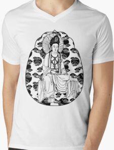 Cloud Buddha Mens V-Neck T-Shirt
