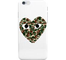 bape heart iPhone Case/Skin