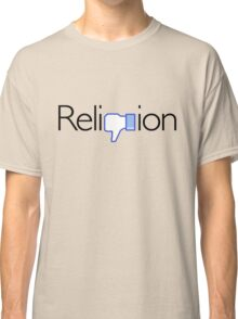 Religion? Thumbs DOWN!  (Light background) Classic T-Shirt