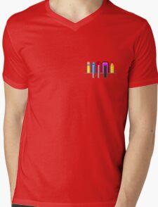 8Bit Nerd Pocket Pixels - 4 light shirt Mens V-Neck T-Shirt