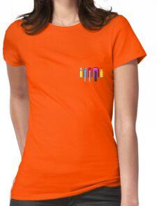 8Bit Nerd Pocket Pixels - 4 light shirt Womens Fitted T-Shirt