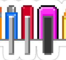 8Bit Nerd Pocket Pixels - 4 light shirt Sticker