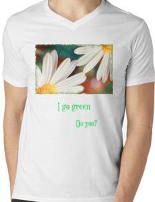 I go green Mens V-Neck T-Shirt