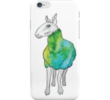 Psychedelic sheep: Blue Faced Leicester, teal/green iPhone Case/Skin