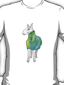 Psychedelic sheep: Blue Faced Leicester, teal/green T-Shirt
