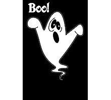 Cute howling ghost postcard geek funny nerd Photographic Print