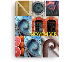 November Canvas Print
