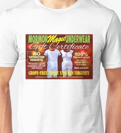 Mormon Underwear - Gift Certificate Unisex T-Shirt