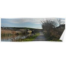 Bude Canal Lock Gates Poster