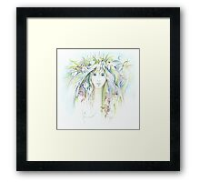 """APRIL"" from ""Calender Sheets"" Framed Print"