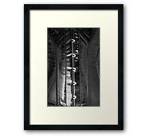 Shiny PVC corset... Framed Print