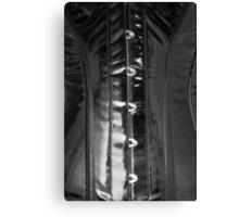 Shiny PVC corset... Canvas Print
