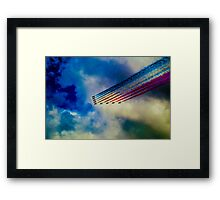 Red Arrows Abstract Framed Print