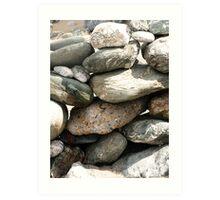 Stones, Cornwall, UK Art Print