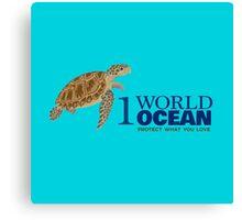 1 World Ocean - Hawksbill Sea Turtle Canvas Print