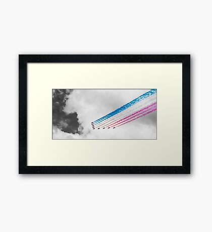Red Arrows Black and White Framed Print