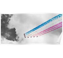 Red Arrows Black and White Poster