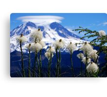Bear Grass with Mt. Rainier Canvas Print