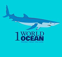 1 World Ocean - Blue Shark by PepomintNarwhal