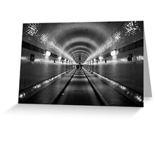 Hamburg - Alter Elbtunnel Greeting Card