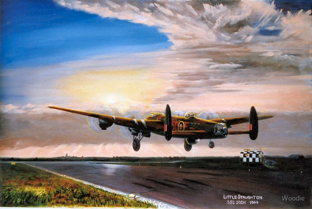 Lancaster evening takeoff  by Woodie