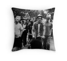 Walk Against Climate Change Throw Pillow