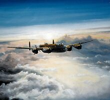 Lancaster flies East by Woodie