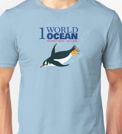 1 World Ocean - Gentoo Penguin Unisex T-Shirt