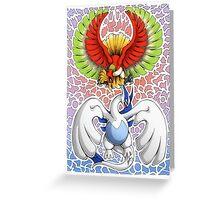 Ho-oh! Lugia! Greeting Card
