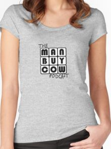 ManBuyCow B&W Roobix Women's Fitted Scoop T-Shirt