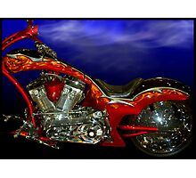 """The Skull"" Custom Motorcycle Photographic Print"