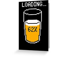 Funny 8 bit beer loading mouse pad geek funny nerd Greeting Card