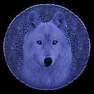 Wolf in Blue II by Sandy Keeton