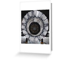 Fighting Falcon, back stage. Greeting Card