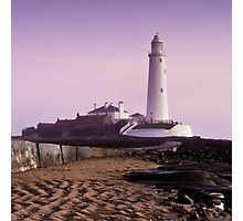 St Mary's Whitley Bay Photographic Print
