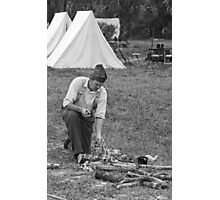 Campfire BW Photographic Print