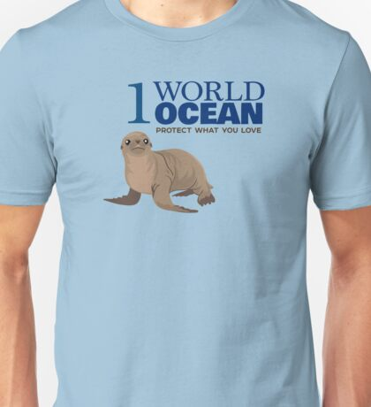1 World Ocean - Sea Lion Unisex T-Shirt