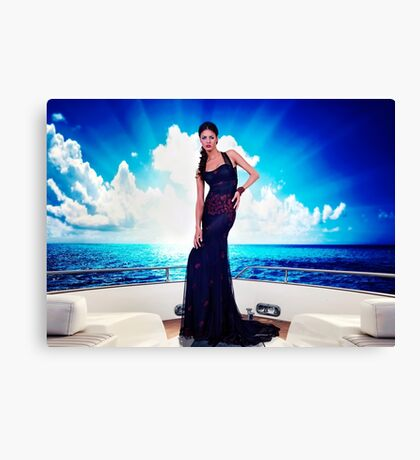 High Fashion Yacht Fine Art Print Canvas Print