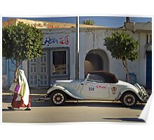 On the road to Tataouine (Tunisia) Poster