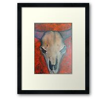 Cows Head - Landscape Framed Print