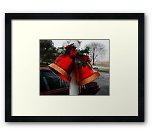 Christmas Bells and Ice Framed Print