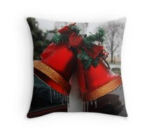 Christmas Bells and Ice Throw Pillow