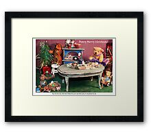 Almost Christmas in the Burrow Framed Print