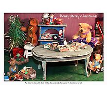 Almost Christmas in the Burrow Photographic Print