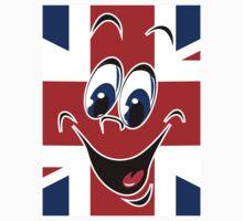 Union Jack UK Flag Smiley Face Emotion Emoticon by CroDesign