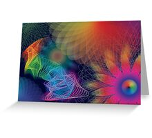 Psychedelic Garden Greeting Card