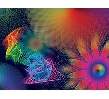 Psychedelic Garden Photographic Print