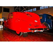Luxury in Red--The Tatra T97? Photographic Print