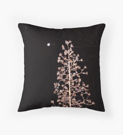 Dried Weed Christmas Tree Throw Pillow